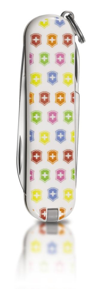 "Нож-брелок Victorinox Classic LE 2010, 58 мм, 7 функ, ""Rainbow""  (0.6223.L1002)"