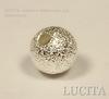 "Бусина ""Сахарный шарик"" 6 мм (цвет - серебро), 10 штук"