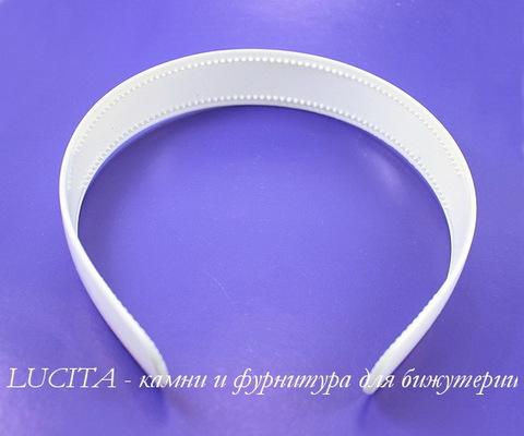 Ободок для волос 25 мм (цвет - белый)