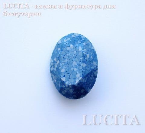 4120/B Ювелирные стразы Сваровски Marbled Blue (18х13 мм) ()