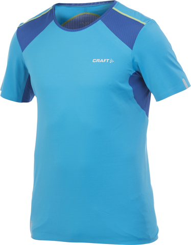 Футболка Craft Elite Run V-Neck Blue мужская