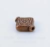 """Бусина металлическая """"Ромб"""" (цвет - античная медь) 10х8 мм, 10 штук"""