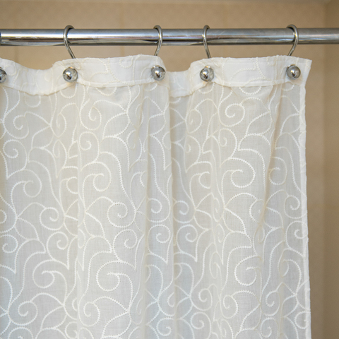 Элитная шторка для ванной 180х200 Embroidery 2555 от Arti-Deco