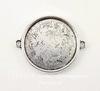 Сеттинг - основа - коннектор (1-1) для кабошона 25 мм (цвет - античное серебро)