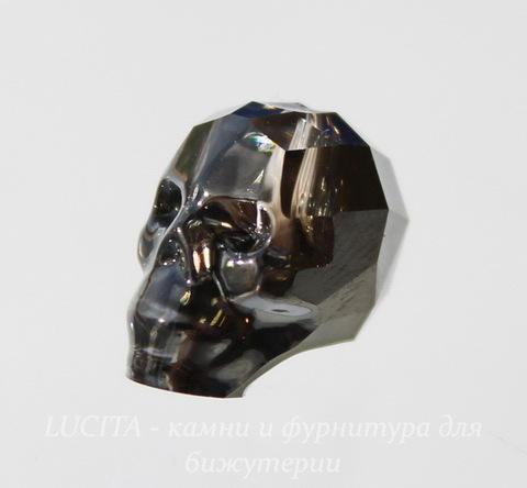 "5750 Бусина ""Череп"" Сваровски Crystal Silver Night 13 мм"