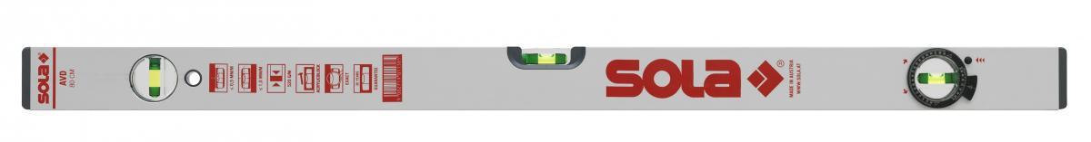 Уровень AVD 80, L=80 см, 3 глазка /SOLA/ Sola 01121101