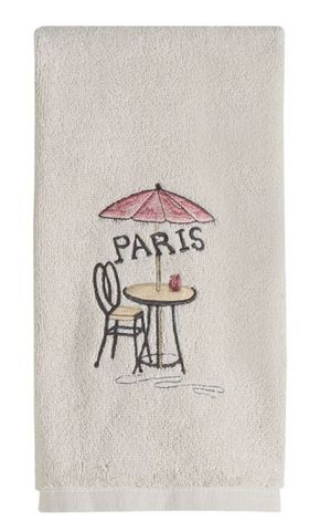Полотенце 69х51 Creative Bath I Love Paris слоновой кости
