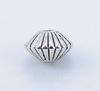 Бусина металлическая - биконус 8х5 мм (цвет - античное серебро), 10 штук