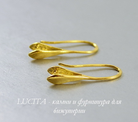 Швензы - крючки с держателем для подвески, 22х9 мм (цвет - золото), пара