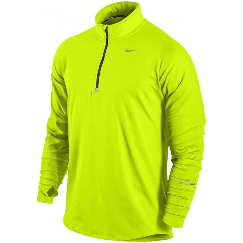 Мужская беговая футболка Nike Element 1/2 Zip LS (504606 703)