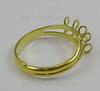Основа для кольца 8 петелек (цвет - золото) ()