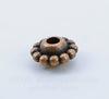 Бусина металлическая (цвет - античная медь) 9х5 мм, 10 штук