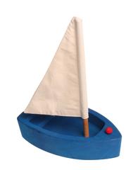 Лодка с парусом большая синяя (Grimm's)
