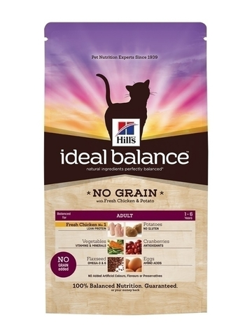 Hill's Ideal Balance Feline Adult NO GRAIN with Fresh Chicken and Potato