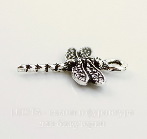 "Подвеска TierraCast ""Стрекоза"" (цвет-античное серебро) 21х16 мм"