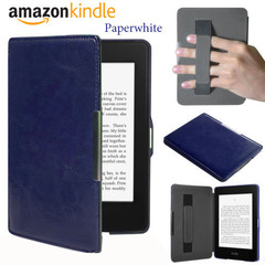 Чехол Hard Case Magnetic Cover with Hand Grip с фиксатором на руку для Amazon Kindle Paperwhite  Dark Blue Темно-синий