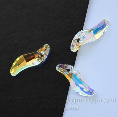 6525 Подвеска Сваровски Wave Crystal AB (19 мм) ()