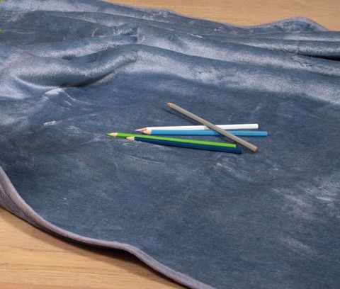 Элитный плед детский Silk голубой от Luxberry