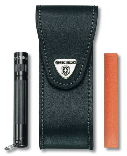 Чехол кожаный черный (4.0523.32), для Services pocket tools 111mm, Pocket Multi Tools lock-blade