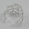 Основа для кольца филигранная (цвет - серебро) ()