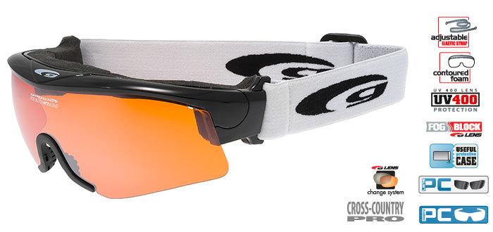 Очки-маска goggle линия PROVO black/orange
