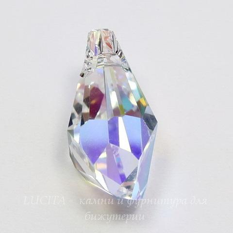 6015 Подвеска Сваровски Polygon Drop Crystal AB (21 мм) ()