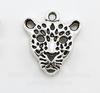 "Подвеска ""Леопард"" (цвет - античное серебро) 20х18 мм"