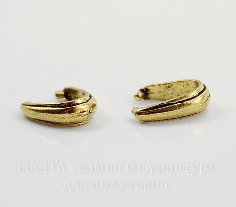 """Держатель для кулона TierraCast """"Nouveau"""" (цвет-античное золото) 12х8х4 мм"""