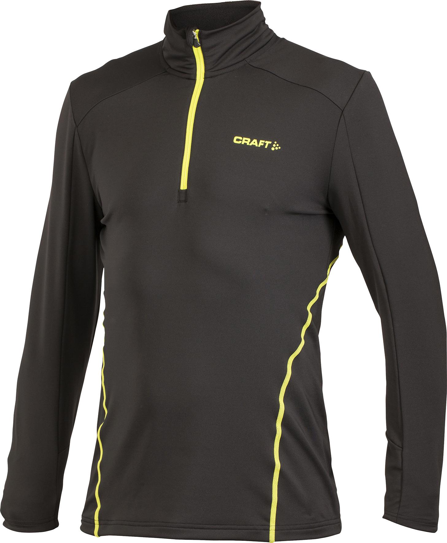 Толстовка пуловер Craft Lightweight мужская черно-желтая