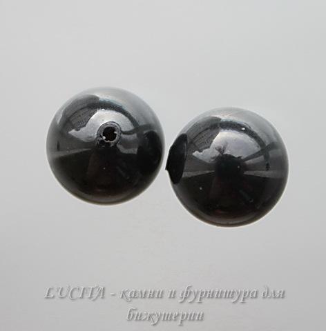 5818 Хрустальный жемчуг Сваровски Crystal Mystic Black круглый с несквозным отверстием 8 мм, 2 штуки