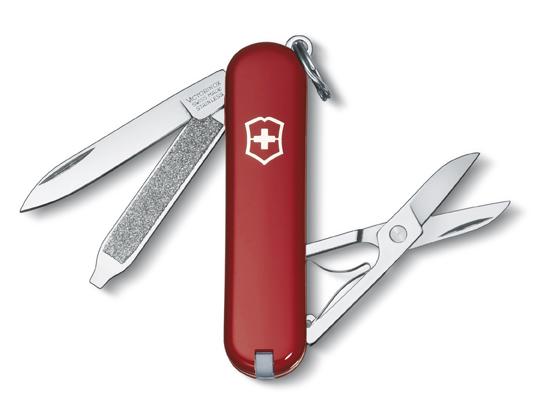 Нож-брелок Victorinox Classic, 58 мм, 7 функ, красный  (0.6223)