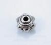 Бусина металлическая (цвет - античное серебро) 7х5 мм, 10 штук