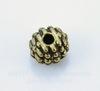 Бусина металлическая шипастая (цвет - античная бронза) 7х6 мм, 10 штук ()