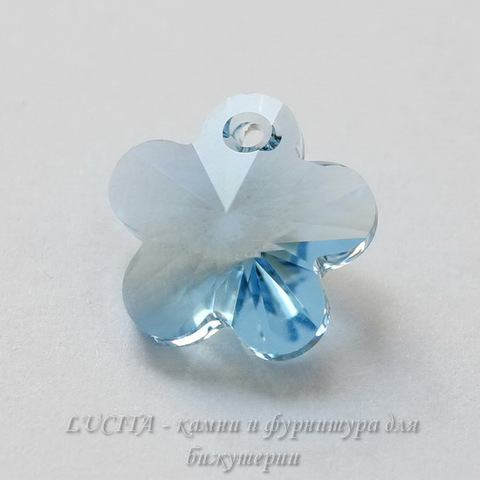 6744 Подвеска Сваровски Цветочек Aquamarine (12 мм)