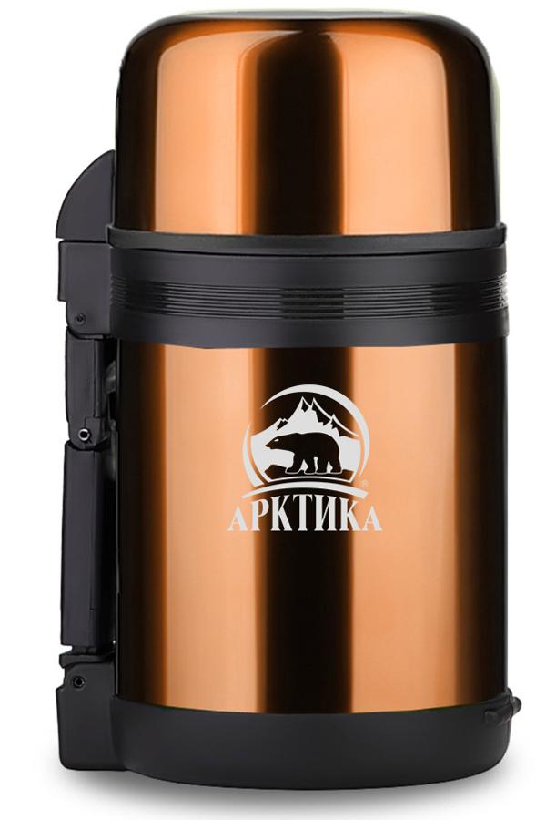 Термос универсальный (для еды и напитков) Арктика (1 л.) с широким горлом, кофейный
