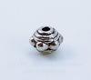 Бусина металлическая (цвет - античное серебро) 7х5 мм, 10 штук ()