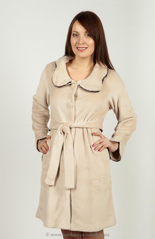 Мягкий халат на пуговицах Pepita (Женские халаты)