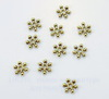 """Бусина металлическая - спейсер """"Снежинка"""" (цвет - античное золото) 8х2 мм, 10 штук"""