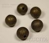 "Бусина ""Сахарный шарик"" 10 мм (цвет - античная бронза), 5 штук ()"