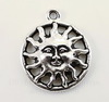 """Подвеска круглая TierraCast """"Солнце"""" (цвет-античное серебро) 20х17 мм"""