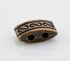 Разделитель на 2 нити (цвет - античная медь) 10х5х4 мм
