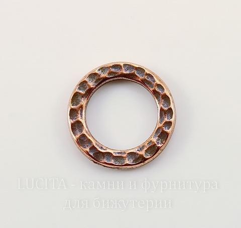 """Коннектор - кольцо TierraCast """"Hammertone"""" (цвет-античная медь) 13 мм"""