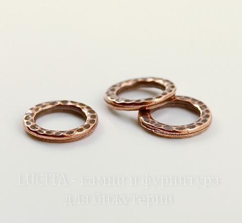 """Коннектор - кольцо TierraCast """"Hammertone"""" 13 мм (цвет-античная медь)"""