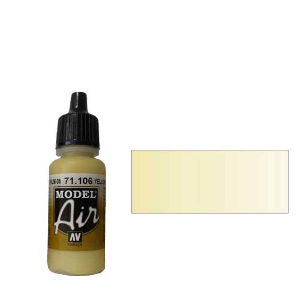 106 Краска Model Air Желтый Лазурный RLM 05 (Yellow Lasur RLM 05) укрывистый, 17 мл