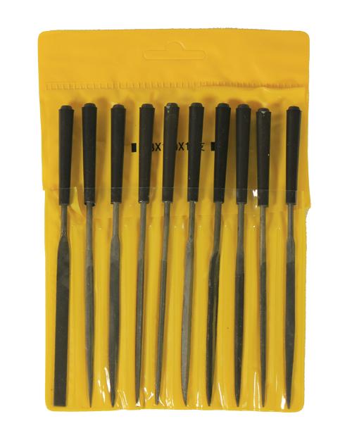 Набор надфилей  с ручками,10 шт.,чехол