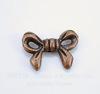 """Бусина металлическая """"Бантик"""" (цвет - античная медь) 14х10 мм, 10 штук"""