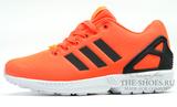 Кроссовки Мужские Adidas ZX Flux Orange Black White