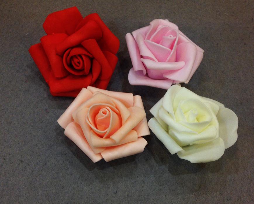 Цветок розы кудрявой 6-7 см (фоамиран).