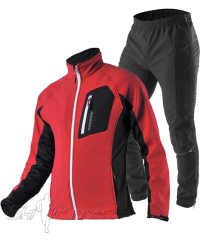 Лыжный утепленный костюм Keep Moving Red Perfomance мужской
