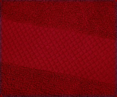 Полотенце 33х33 Mirabello Microcotton красное